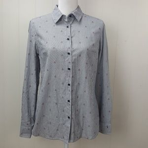Tommy Hilfiger Striped Sailboat Button Down Shirt